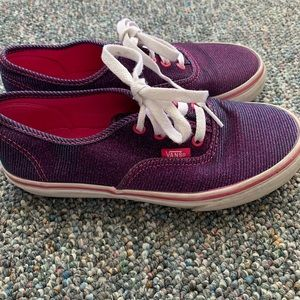 Vans purple blue glitter sneakers